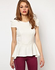 A Wear Peplum Bombshell Top