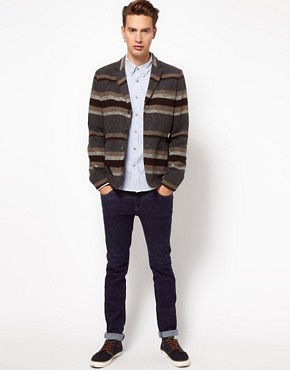 Image 4 ofASOS Slim Fit Stripe Blazer in Italian Fabric