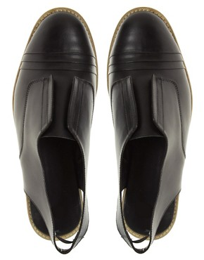 Image 3 ofASOS MADAME Leather Pleated Slingback Shoe