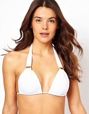 Vix Solid White Tube Bikini Top
