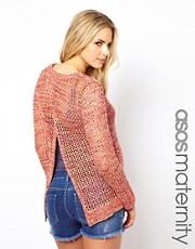 ASOS Maternity Exclusive Open Knit Sweater with Slit Back