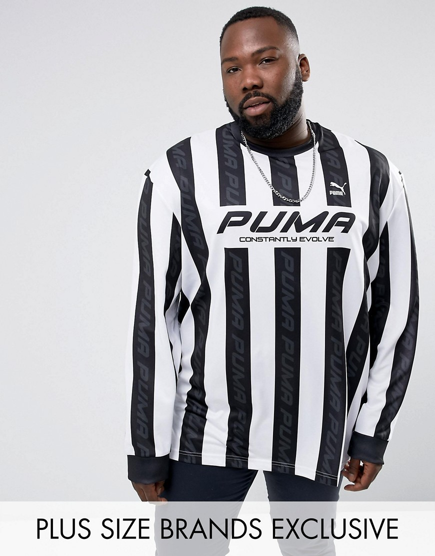 Puma PLUS Retro Football Jersey In Black Exclusive to ASOS 57660201 - Black