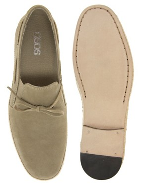 Image 3 ofASOS Leather Sole Jute Wrap Loafers
