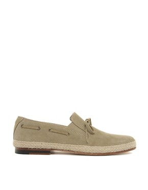 Image 4 ofASOS Leather Sole Jute Wrap Loafers