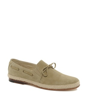 Image 1 ofASOS Leather Sole Jute Wrap Loafers