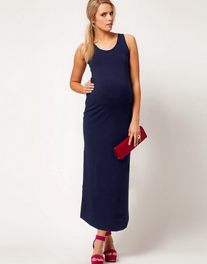 Image 4 ofASOS Maternity Exclusive Maxi Dress In Stretch Jersey