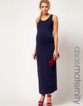 Image 1 ofASOS Maternity Exclusive Maxi Dress In Stretch Jersey