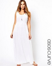ASOS CURVE Exclusive Maxi Dress In Cheesecloth