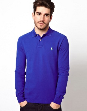 Image 1 ofPolo Ralph Lauren Polo in Slim Fit with Long Sleeves