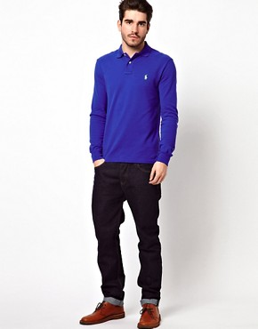Image 4 of Polo Ralph Lauren Polo in Slim Fit with Long Sleeves