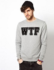 ASOS Sweatshirt With WTF Print