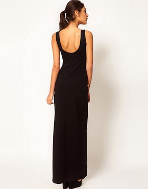 Image 2 ofASOS PETITE Exclusive Maxi Dress With Scoop Back And Thigh Split