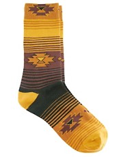 Humor Aztec &amp; Stripe Socks