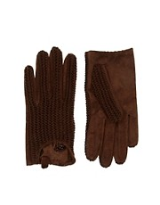 Guantes cortos de punto y ante de ASOS