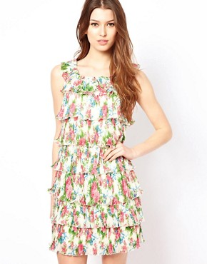 Image 1 of Yumi Floral Frill Dress