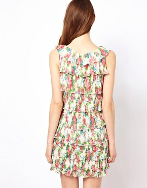 Image 2 of Yumi Floral Frill Dress