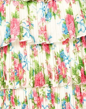 Image 3 of Yumi Floral Frill Dress
