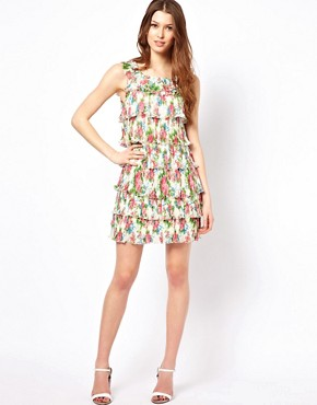 Image 4 of Yumi Floral Frill Dress