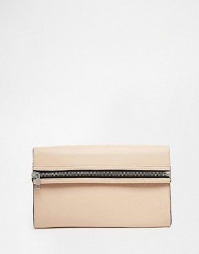 ASOS Chunky Horizontal Zip Clutch Bag