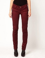 Goldsign Misfit Slim Leg Cord Jeans in Wine