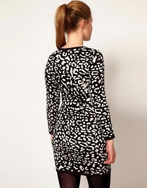Image 2 ofASOS CURVE Knitted Dress With Leopard Face