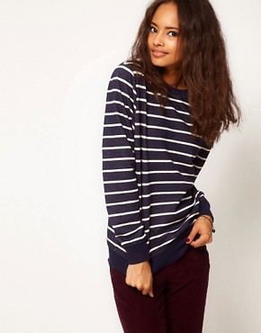 Image 1 ofASOS Sweatshirt in Stripe