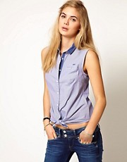 Pepe Jeans 50s&#39; Tie Front Blouse