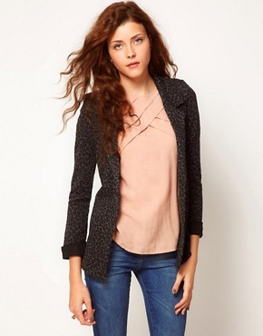 Image 1 ofA Wear Leopard Print Blazer Jacket