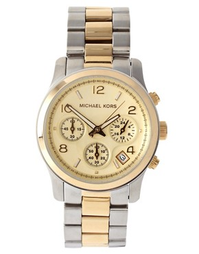 Image 1 ofMichael Kors Two-Tone Chronograph Watch