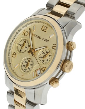 Image 4 ofMichael Kors Two-Tone Chronograph Watch