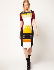 Louise Amstrup Dress with Printed Panel