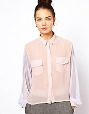 Pippa Lynn Shirt With Mesh Sleeve
