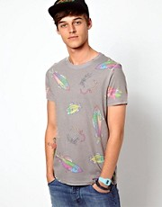 ASOS T-Shirt With All Over Fish Print