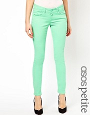 ASOS PETITE Exclusive Skinny Jeans In Jade Green