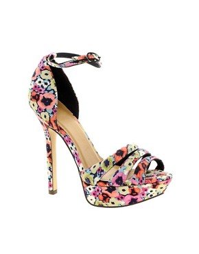 Image 1 of ASOS HOORAY Platform Heeled Sandals