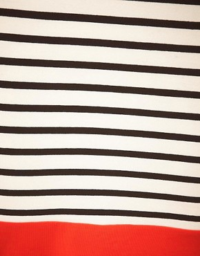 Image 3 ofASOS CURVE Pencil Skirt In Colourblock Stripe