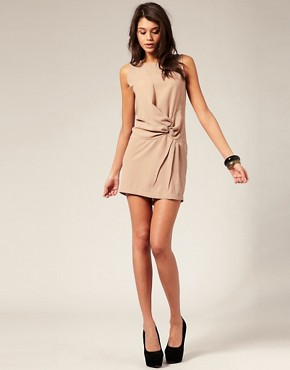Image 4 ofASOS Shift Dress with Knot Waist
