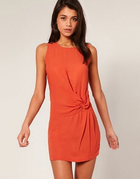 Image 1 ofASOS Shift Dress with Knot Waist