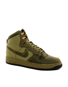 Image 1 of Nike Air Force 1 Hi-Top Trainers