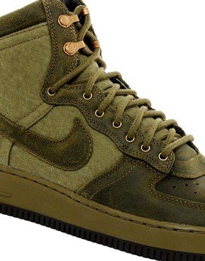 Image 2 of Nike Air Force 1 Hi-Top Trainers