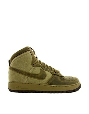 Image 4 of Nike Air Force 1 Hi-Top Trainers