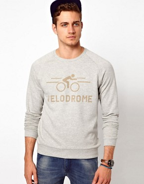 Image 1 ofASOS Sweatshirt With Velodrome Print