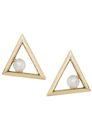 ASOS Pearl Triangle Earrings