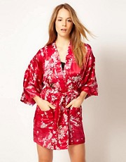 Kiku Cherry Blossom Cascade Short Kimono