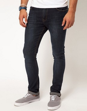 Image 1 ofASOS Super Skinny Jeans In Dark Wash