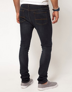 Image 2 ofASOS Super Skinny Jeans In Dark Wash
