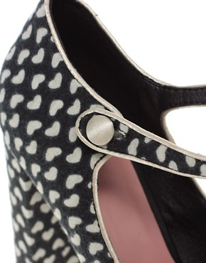 Image 3 ofASOS PICKLE Heart Print Platform Mary Jane Shoe