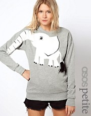 ASOS PETITE Sweatshirt with Elephant Print