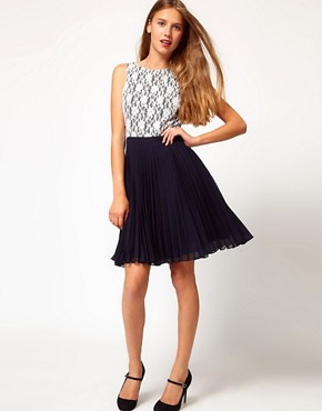 Image 4 ofA Wear Poppy Pleat Dress