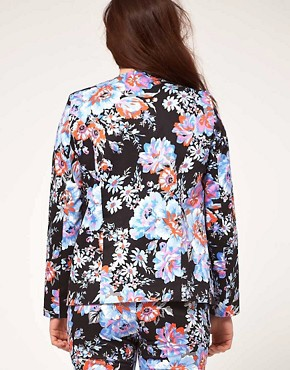 Bild 2 von ASOS CURVE  Blazer mit Blumenmuster